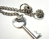 SALE: Keys N Cogs -- Chian Dangle EARRINGS --