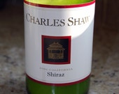 Vanilla Soy Candle in Recycled Charles Shaw Shiraz Wine Bottle