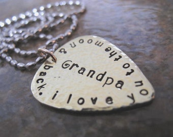Your Message to Grandpa on a Guitar Pick - Great Gift for Grandpa, Granddad or Uncle - something for those special men in your life