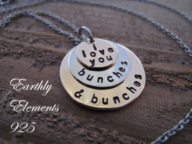 3 Stack I Love You Bunches And Bunches Necklace