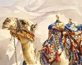 Desert Camel watercolor print, now available as large GICLEE-SALE
