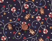 2 YARDS Gingerbread Men and Candy Swirls Marcus Brothers Fabric