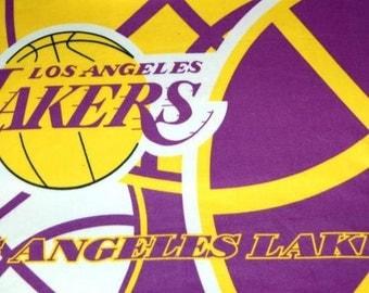 SALE  NBA Los Angeles LA Lakers Basketball Fleece Throw Blanket Soft Warm Wall Hanging