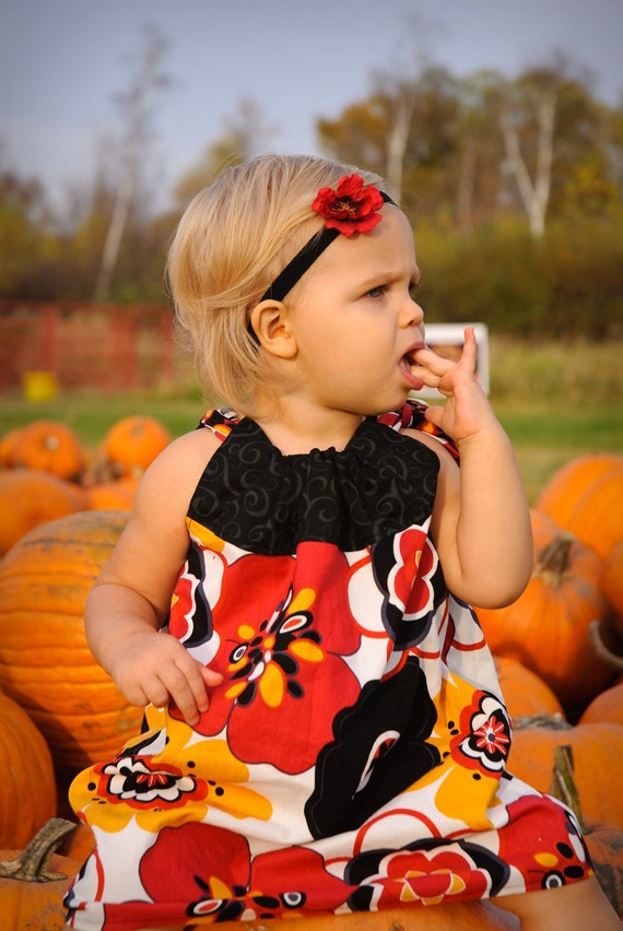 Fall Pillowcase Dress... Girls Pillowcase Dress ...Girls and Baby Fall dress...Thanksgiving Dress...Size 12mo - 5T