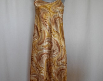 clearance sale satin babydoll nightgown in golden brown