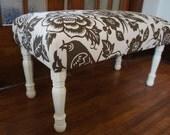 Handmade upholstered bench (16x36x19) , custom orders available