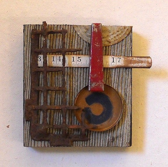 Measure, found object assemblage
