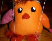 Lil Orange Penguin Marionette