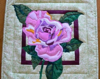 Rose Applique Wall Hanging