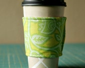 reversible coffee cup sleeve - FREE shipping within US