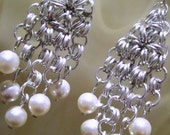 Metalic Pearl Earrings
