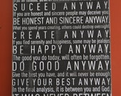 "Digital JPEG file for ""Anyway"" quote from Mother Teresa"