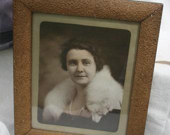 Framed Vintage Portrait Photograph Lovely Lady Lomen Brothers Nome, Alaska Original Frame 1920's 1930's