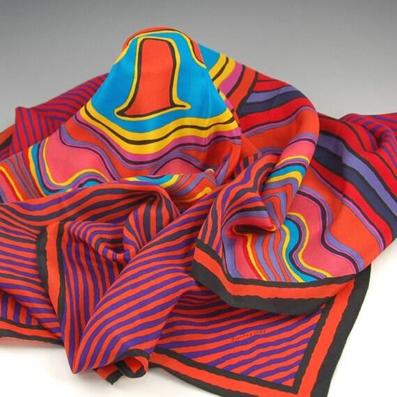 Vintage Jimmy Pike Aboriginal Silk Scarf - 1159