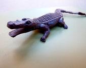 Vintage Dark Brown Crocodile for YOU and TARZAN's Jungle . . .