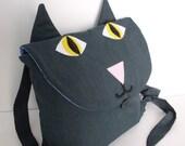 Smokey Gray Kids Cat Backpack