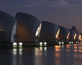 Thames Barrier in London 12x8 (inch) Print