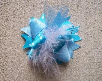 Hair bows, blue hair bow, baby hair bow, mini hair bow, over the top hair bow, newborn hair bow, small hair bow, hairbows