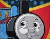 Thomas the Tank Engine with Blue Handmade Fleece Blanket