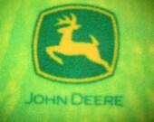 John Deere Logos on Green with Green Blanket
