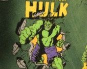 The Hulk, from the Marvel Comics Super Heros, with Gray Blanket