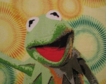 Kermit the Frog with Brown Blanket - This Blanket is Ready to Ship Now
