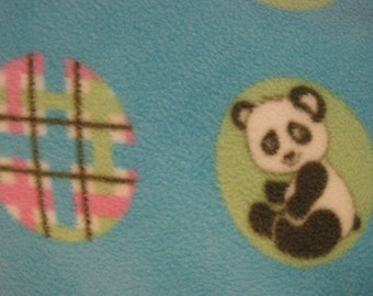Polar Bears, Apes, Pandas, Elephants on Blue with Green Blanket