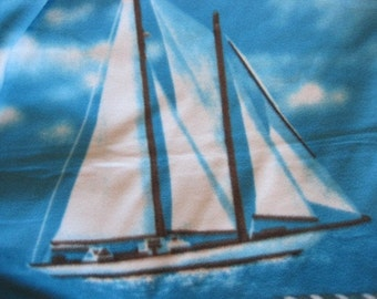 Ready to Ship Now - Come Sail Away with Me with Nautical Emblems with Gray Lap Cover