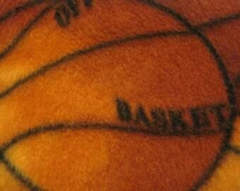 Basketballs with Black Handmade Fleece Blanket - Ready to Ship Now