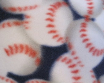 Baseballs on Blue with Red Blanket - Ready to Ship Now