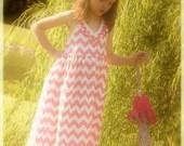 Gooseberry Lane Originals Maxi Maxinne Chevron Dress
