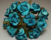Aqua Paper Flower Buds
