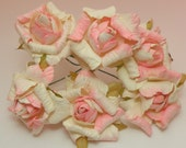 Pink Cream Rolled Flowers