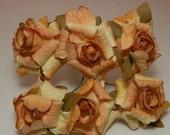 Goldish Rolled Flowers