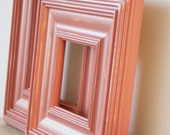 8x8 Cotton Candy Pink Distressed Wood Picture Frame / Whistler Style/ IN STOCK READY TO SHIP