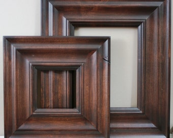 20x20 Picture Frame / Madera Style in Three Stained Finishes / NO CARVE