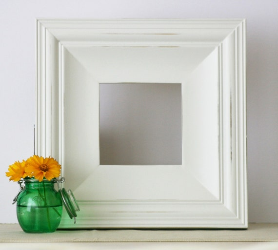 12x12 Cottage White Distressed Picture Frame - FREE SHIPPING