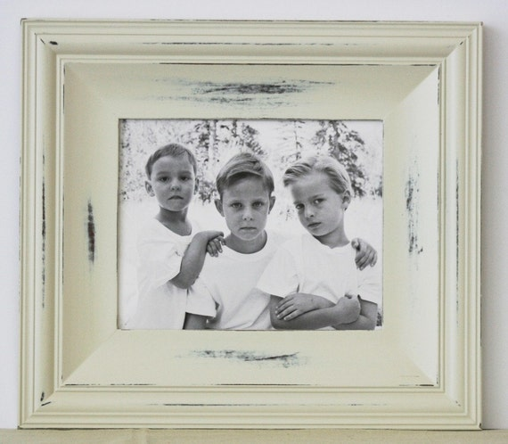 20x24 picture frame cottage style vintage white or for Bungalow style picture frames