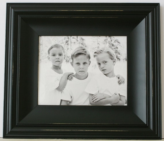 16x24 picture frame cottage style white black gray for Bungalow style picture frames
