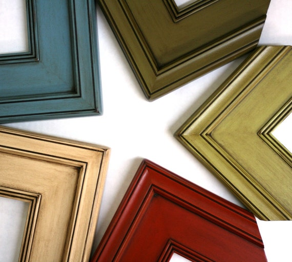 20x24 picture frame plein air style in five glazed finishes