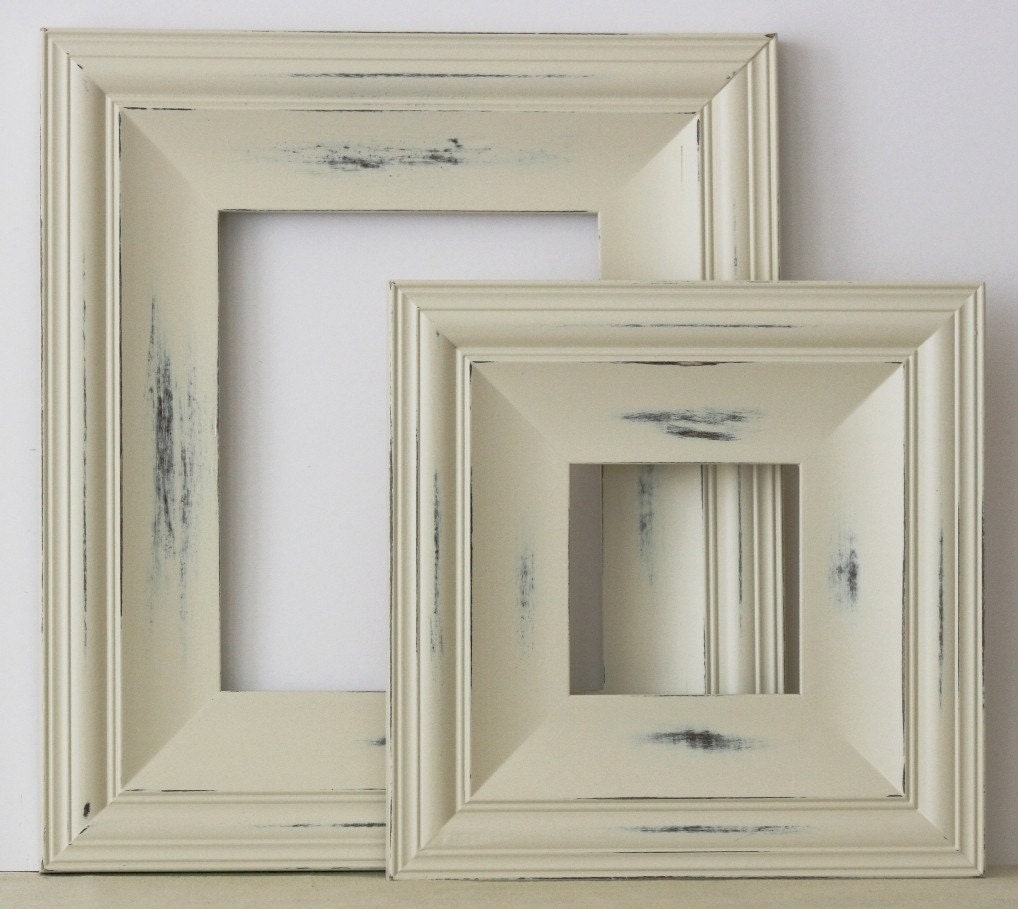 20x24 picture frame cottage style vintage white or blue for Bungalow style picture frames