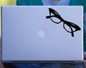 Glasses Retro Macbook Decal / Car Decal / Laptop Decal
