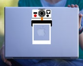 Polaroid Camera Macbook Decal / Laptop Decal / Car Decal