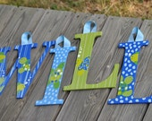 TOTALLY TURTLE  - Handpainted Letter (set) - M2M Turtle Bedding