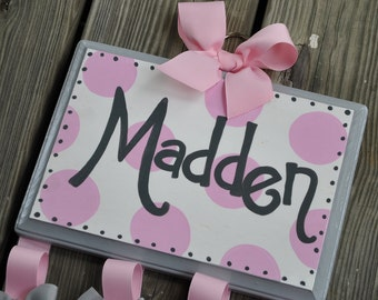 HairBow Holder - SIMPLICITY Design - Handpainted and Personalized Bow Holder