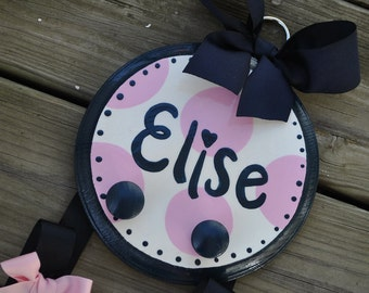 Bow Holder --- SIMPLICITY Design - Medium - Handpainted and Personalized Bow Holder