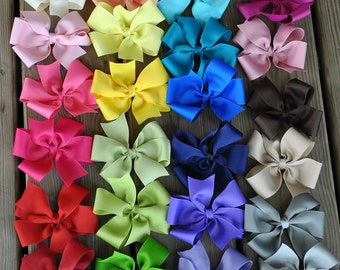 Solid Boutique Bows - Large - YOU PICK any 5 or 10