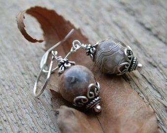 Jasper and Sterling Earrings