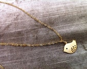 Gold Bird Love Necklace