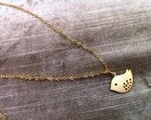 Gold Bird Love Necklace